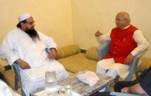 Vaidik (Right) with Hafiz Saeed